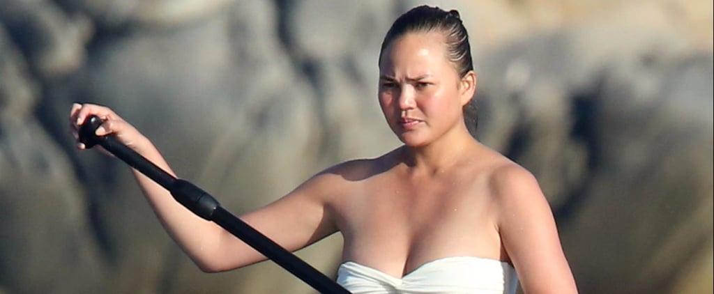 It's Not Chrissy Teigen's White Bikini That Steals the Spotlight —It's What She's Wearing With It