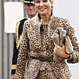 Queen Máxima attends a digital workshop in Enschede, The Netherlands.