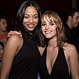 Costars Zoe and Taryn linked up for a few photos.