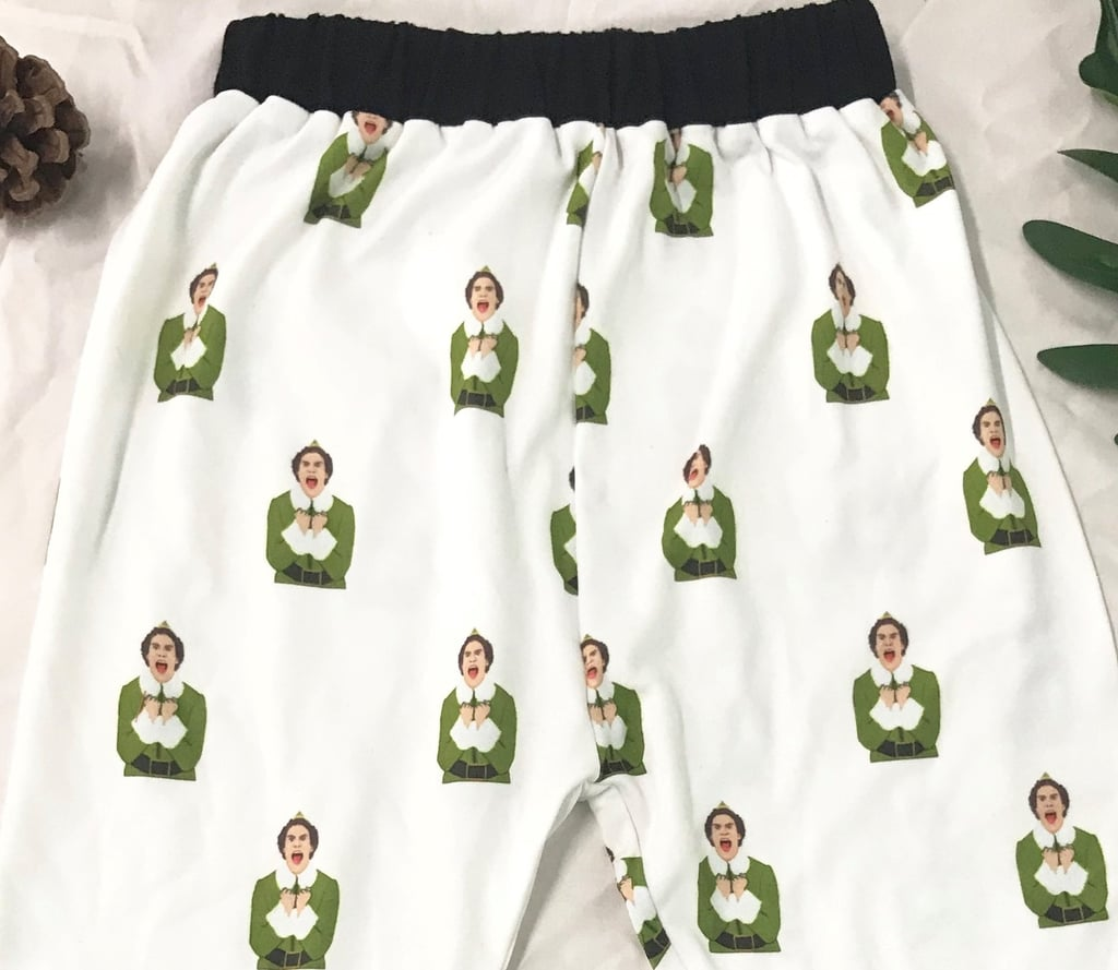 The Buddy the Elf Face Design on the Pants