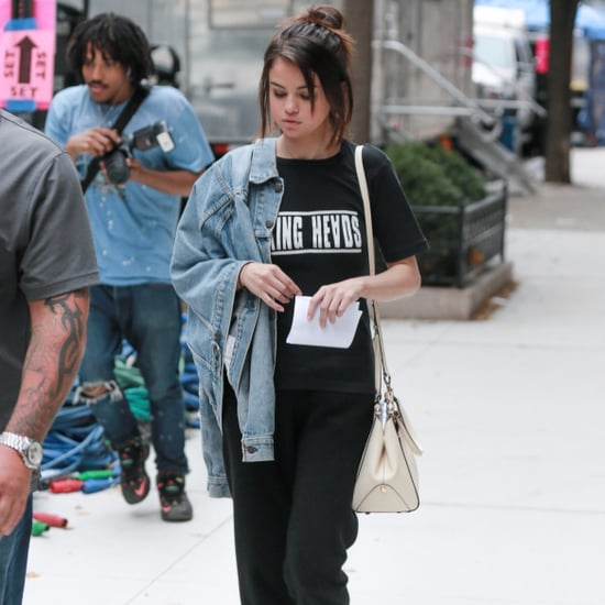 Selena Gomez's White Velcro Sneakers