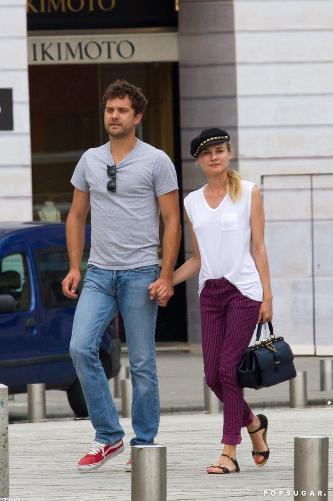 Joshua Jackson And Diane Kruger On A Date In Paris