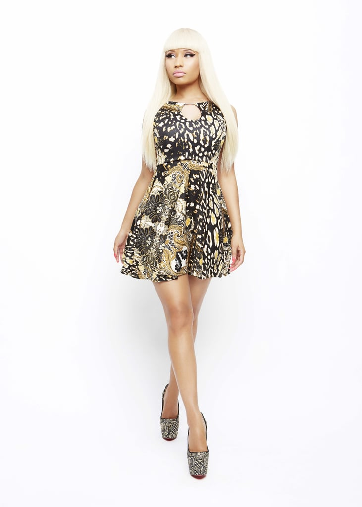 Filigree Leopard Print Keyhole Dress ($30)
