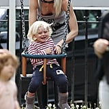 Gwen and Gavin Look in Love in London With Kingston and Zuma