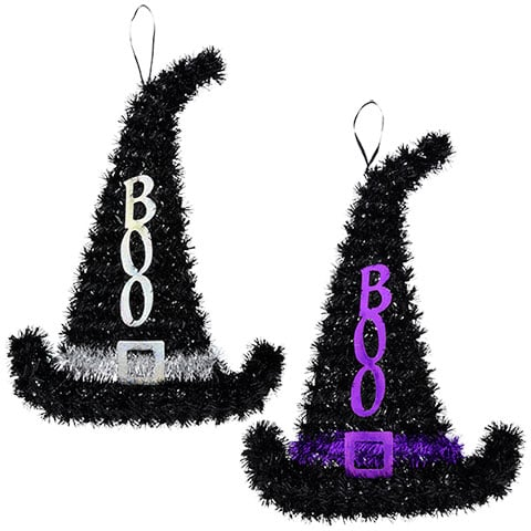 Tinsel Witch Hat Decorations Cheap Halloween Decoration