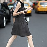Brogues gave this LBD a tomboy touch. Source: Greg Kessler