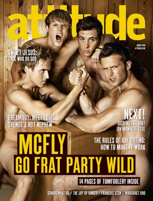 Pictures of McFly Naked In Attitude Magazine, Dougie Poynter Talks About Frankie Sandford