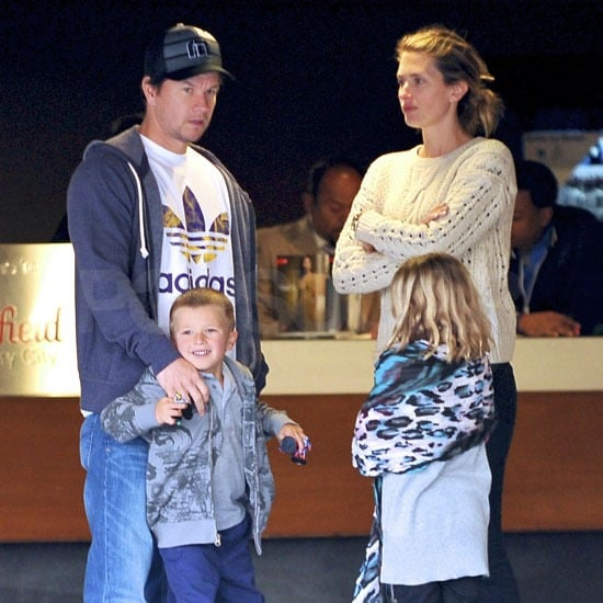 Marky Wahlberg Takes in a Movie Matinee With His Family
