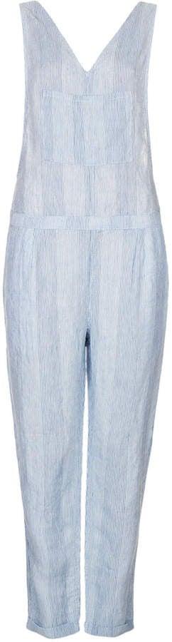 Topshop Moto-Stripe Linen Jumpsuit ($120)