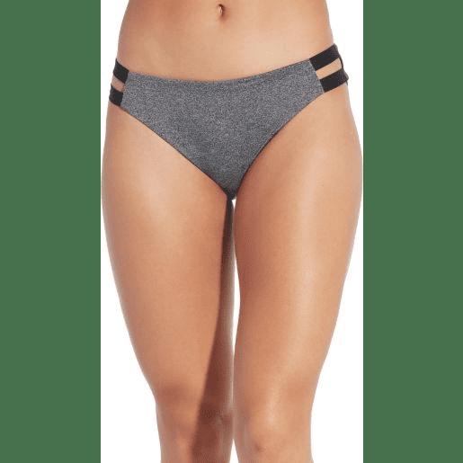 CALIA Women's Solid Elastic Side Bikini Bottom