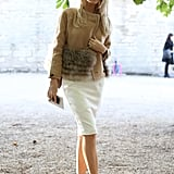The chicest take on fur with classic camel hues and the sexiest lace-up heels.