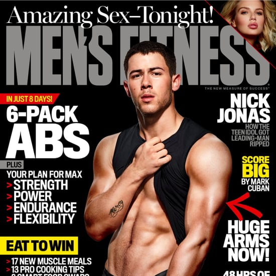 Nick Jonas's Abs on Men's Fitness December 2016 Cover