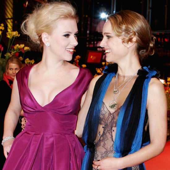 Natalie Portman and Scarlett Johansson premiered The Other Boleyn Girl in Berlin in 2008.