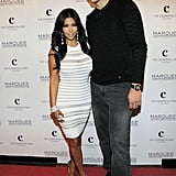 Kim Kardashian and Kris Humphries kicked off the party with a photo session.