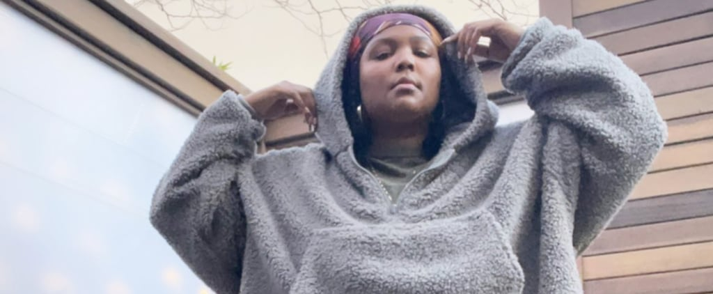 Lizzo's Cozy Athleisure Outfit With The Comfy Teddy Hoodie
