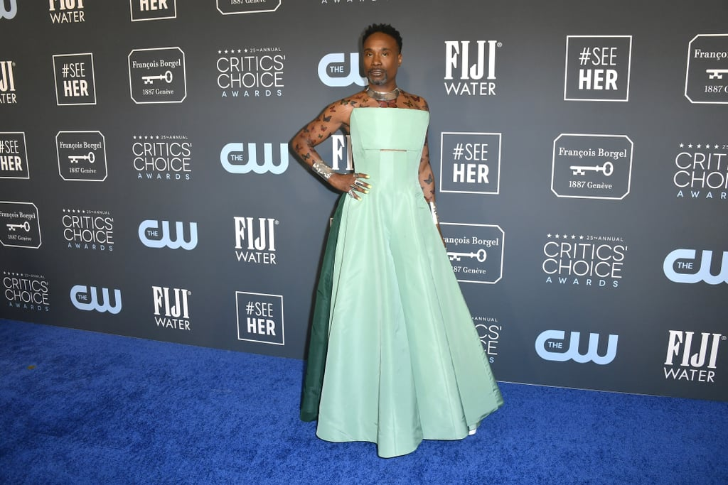 Billy Porter's Green Dress at the Critics' Choice Awards