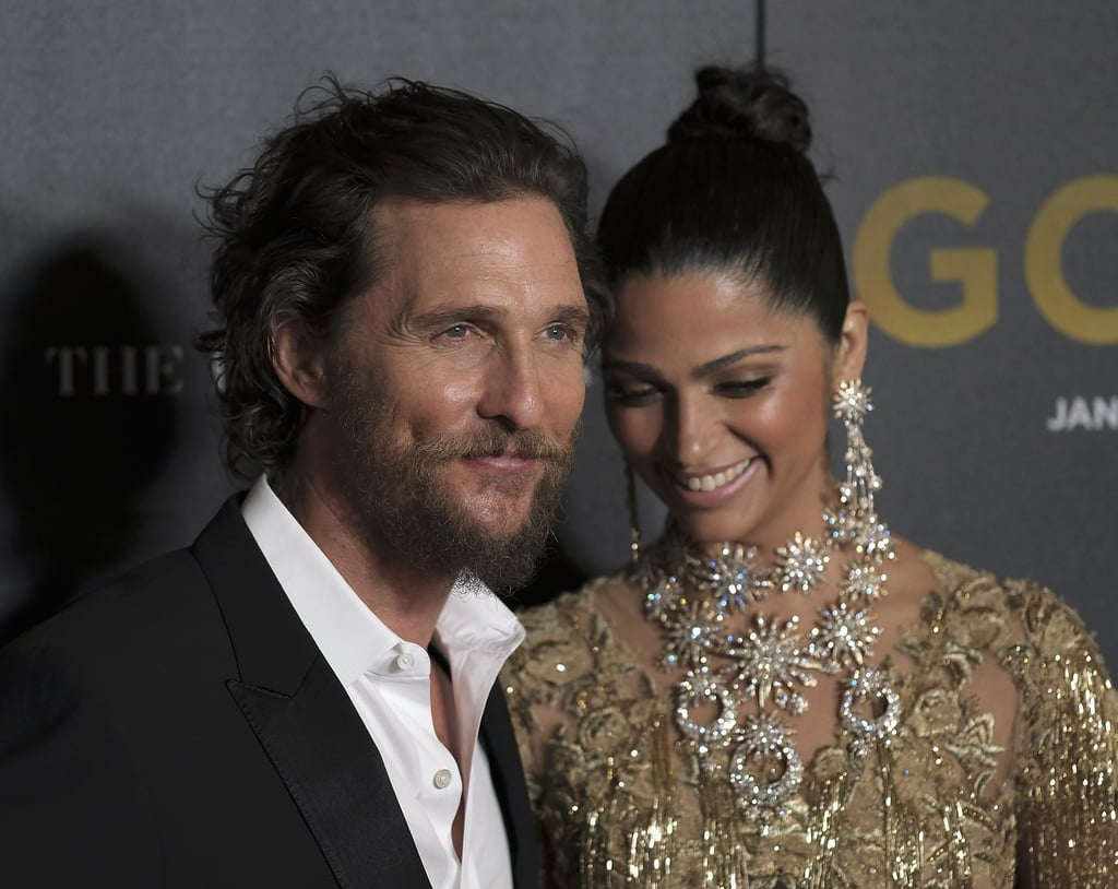 Matthew McConaughey and Camila Alves hit the NYC premiere of his new movie on Tuesday, Gold, and the photos of them are almost too much to handle. The long-time couple, who started dating in 2006 and tied the knot in 2012, looked more in love than ever as they made their way down the red carpet in front of photographers. Although the pair wasn't nearly as animated as they were at the Olympics over the Summer, Matthew planted a kiss on his gorgeous wife and goofed around before they went inside the movie theater.       Related:                                                                                                           Matthew McConaughey Reveals the Magical Moment He Knew Camila Alves Was the One