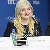 Abigail Breslin attended the August: Osage County press conference.