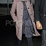 Michelle Williams wore suede booties at the airport.
