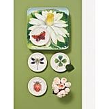 John Derian Insect-Print Melamine Appetizer Plate Set