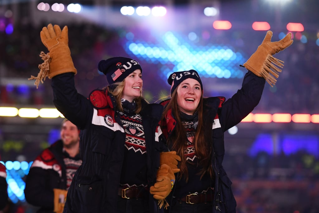 Athletes from Team USA entered the stadium.