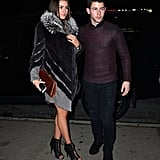 Nick Jonas and his girlfriend, Olivia Culpo, left the party together.