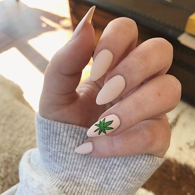 Weed Nail Art Ideas Popsugar Beauty