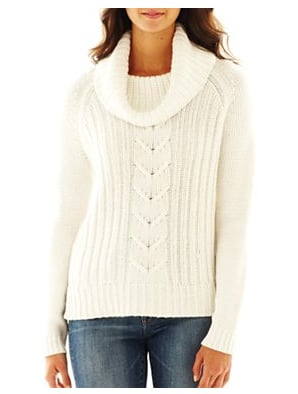 You'll never regret buying a closet staple like this a.n.a. cowl-neck cable-knit sweater ($44).