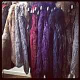 Fab ed Ali snapped some coloured furs from Jennifer Kate. Delicious.