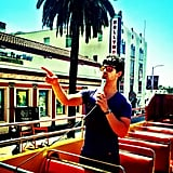 Joe Jonas played tour guide around Hollywood. Source: Instagram user adamjosephj