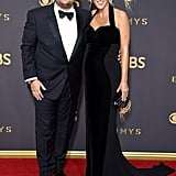 James Corden and Julia Carey at the 2017 Emmys