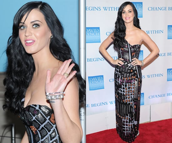 Photos of Katy Perry in a Long Issa Dress