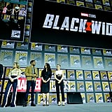 Pictured: David Harbour, Florence Pugh, O-T Fagbenle, Rachel Weisz, and Scarlett Johansson at San Diego Comic-Con.