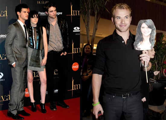 Photos of Robert Pattinson, Kristen Stewart, Taylor Lautner at New Moon Fan Event Madrid