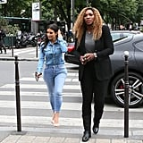 Kim Has a Paris Date With Serena as Her Wedding Date Draws Near