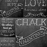 Chalkboard Valentine's Printables