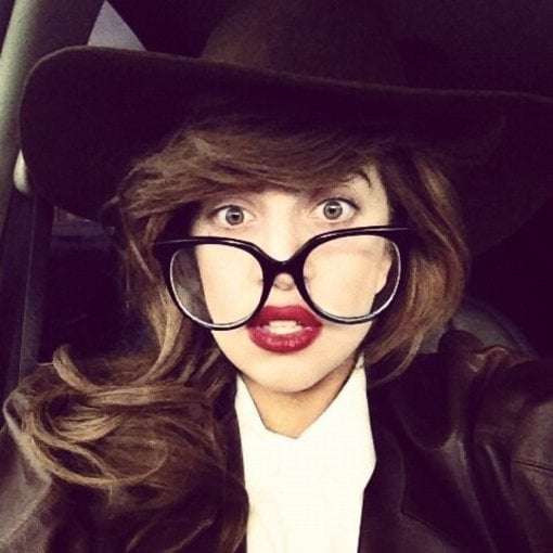 081712ad7bd Lady Gaga rocked a pair of giant glasses. Source  Twitter user ladygaga