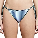 The cute stripes and side ties on this Diane Von Furstenberg Ring Cheeky Bikini Bottoms ($128) just scream summer.