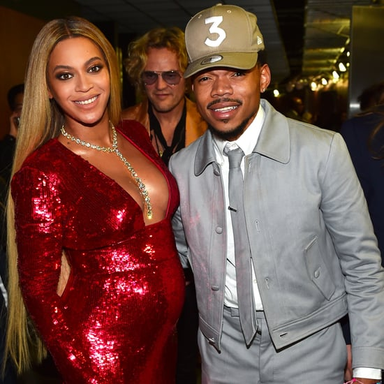 Chance the Rapper and Beyonce at the 2017 Grammys