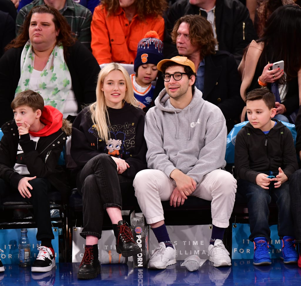 Jack Antonoff and Carlotta Kohl at Knicks Game March 2018