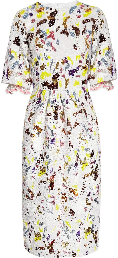 This ladylike jacquard dress reminds us of something Daisy Buchanan would have worn to the workplace.  Preen Matilda Sequined Jacquard Dress ($4,565)