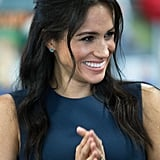 Meghan Markle's Half-Up Bouffant, 2018