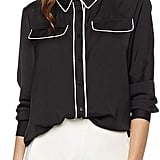 Essentialist Flap Pocket Button-Down Blouse