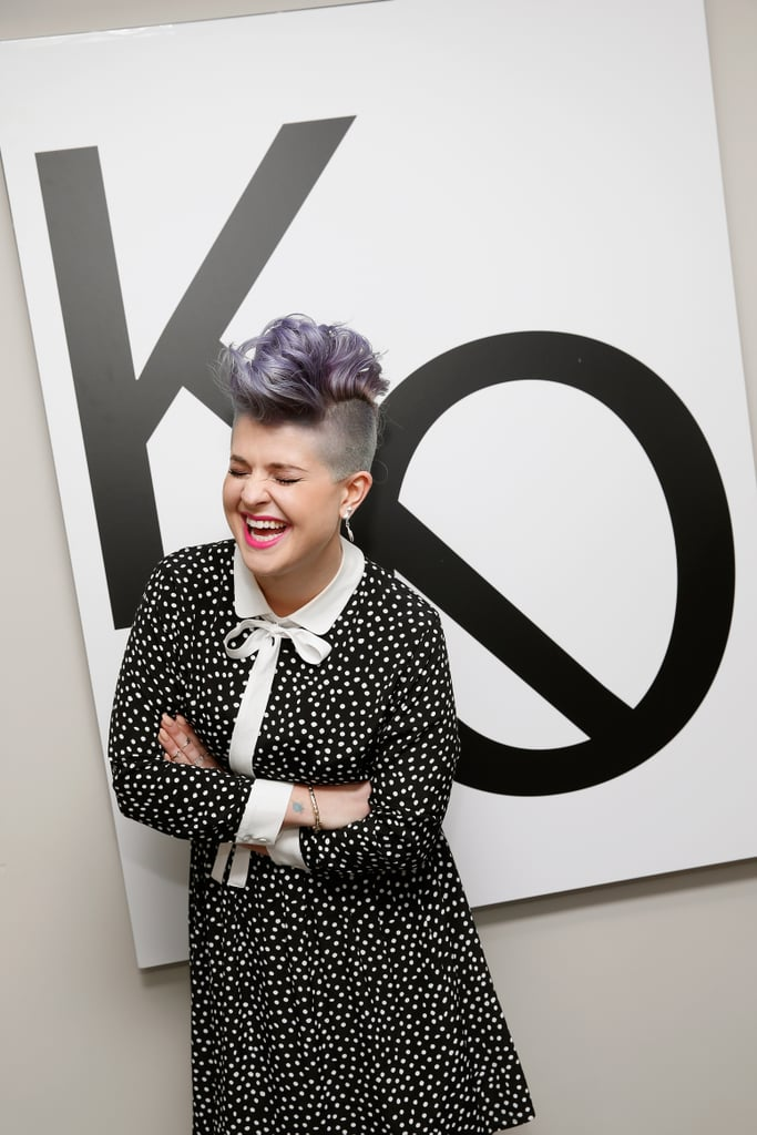 Kelly Osbourne let out a big laugh at an event for her debut clothing line, Stories, in NYC on Tuesday.