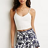Forever 21 Pleated Baroque Print Shorts