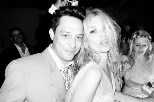 Kate Moss and Jamie Hince inside their wedding.