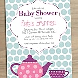 Printable Tea Party Baby Shower Invitation ($15)