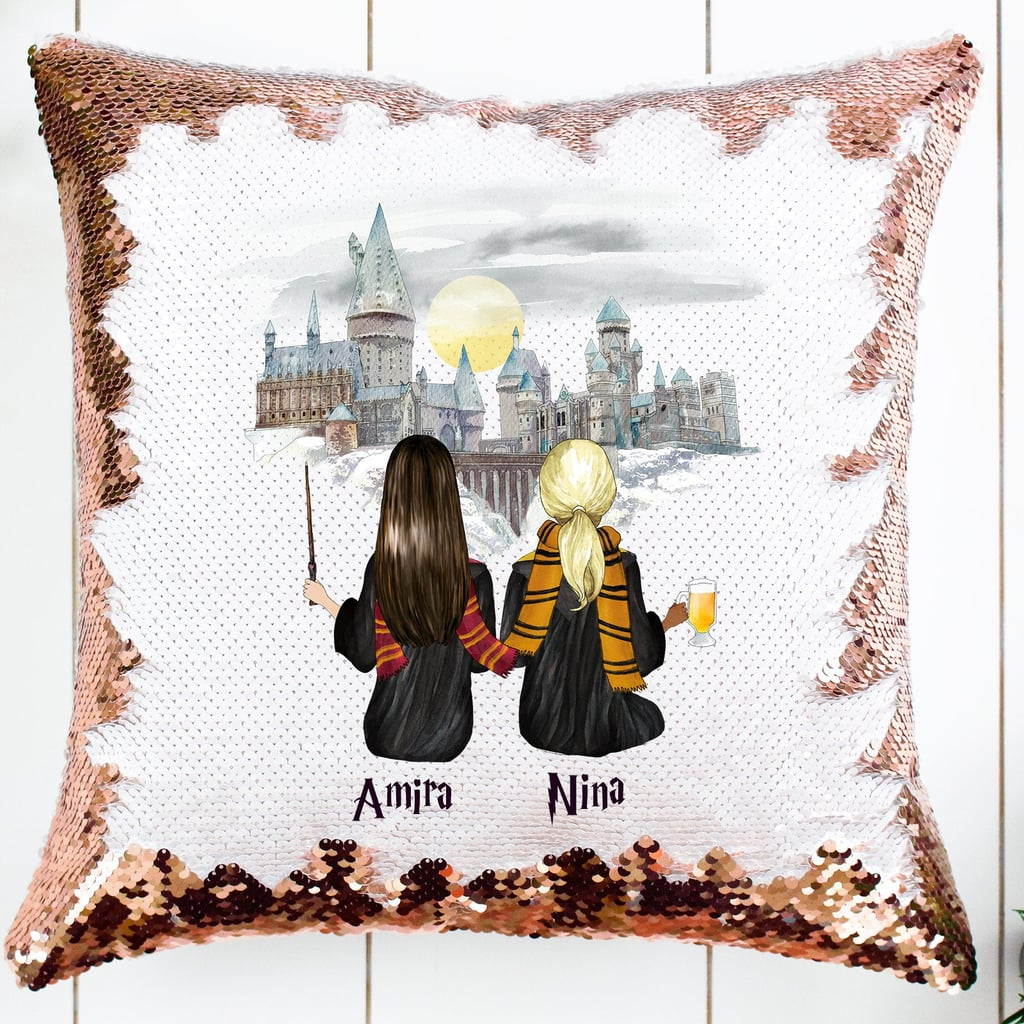 Harry Potter Custom Best Friends Sequin Pillow on Etsy