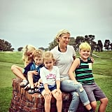 Tori Spelling posted this cute vacation shot of her crew.
