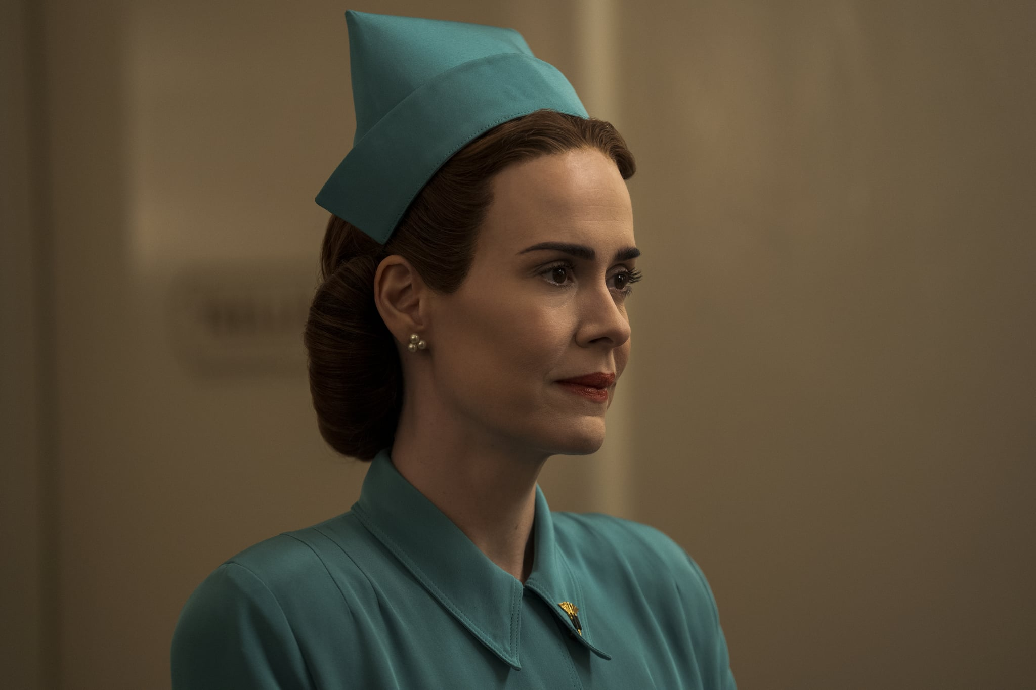 RATCHED (L to R) SARAH PAULSON as MILDRED RATCHED in episode 107 of RATCHED Cr. SAEED ADYANI/NETFLIX  2020